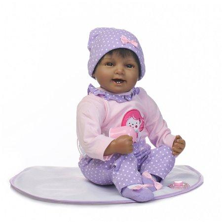 Npg 10 Black Toner (NPK Collection Reborn Baby Doll Soft Silicone 22inch 55cm Magnetic Lovely Lifelike Cute Lovely Baby Smiling face black)