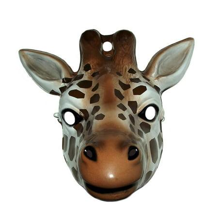 Giraffe Plastic Mask (Stylized Giraffe Mask)