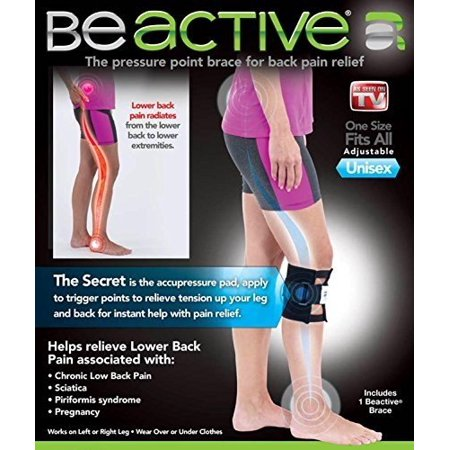 Be Active Brace Acupressure Pad Back Pain Sciatica As Seen