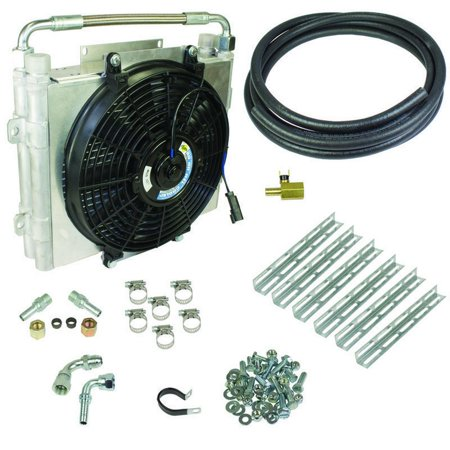 - BD Diesel Xtrude Double Stacked Transmission Cooler Kit - Universial 1/2in Tubing
