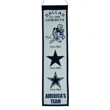 Nfl Dallas Cowboys Fan - Dallas Cowboys NFL 8x32 Fan Favorite Wool Heritage Banner