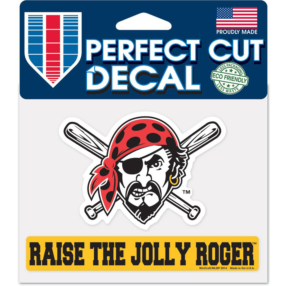 """Pittsburgh Pirates WinCraft 4"""" x 5"""" Jolly Roger Perfect Cut Decal - No Size"""