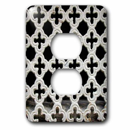Cut Out Cross - 3dRose Image of Concrete Cut Out Crosses - 2 Plug Outlet Cover