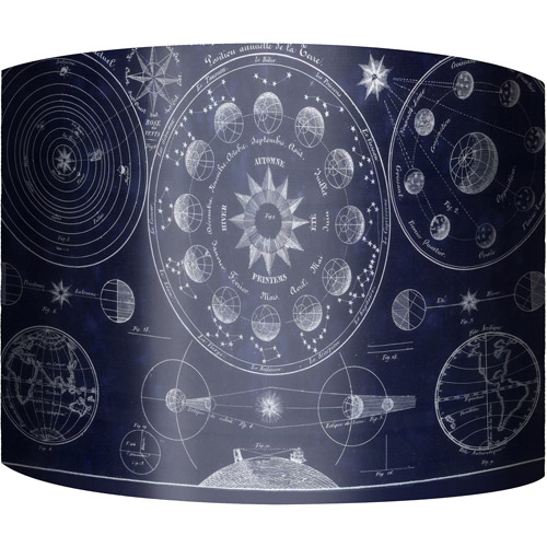 "12"" Drum Lampshade, Celestial by"
