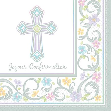 Blessed Day Confirmation Beverage Napkin 36ct for $<!---->