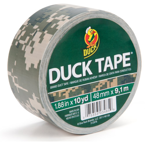 "Duck Brand Duct Tape, 1.88"" x 10 yard, Digital Camo"