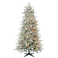 Belham Living Pre-Lit Hamilton Indexed Quick Set Pine Artificial Christmas Tree, 7', Clear Incandescent Lights