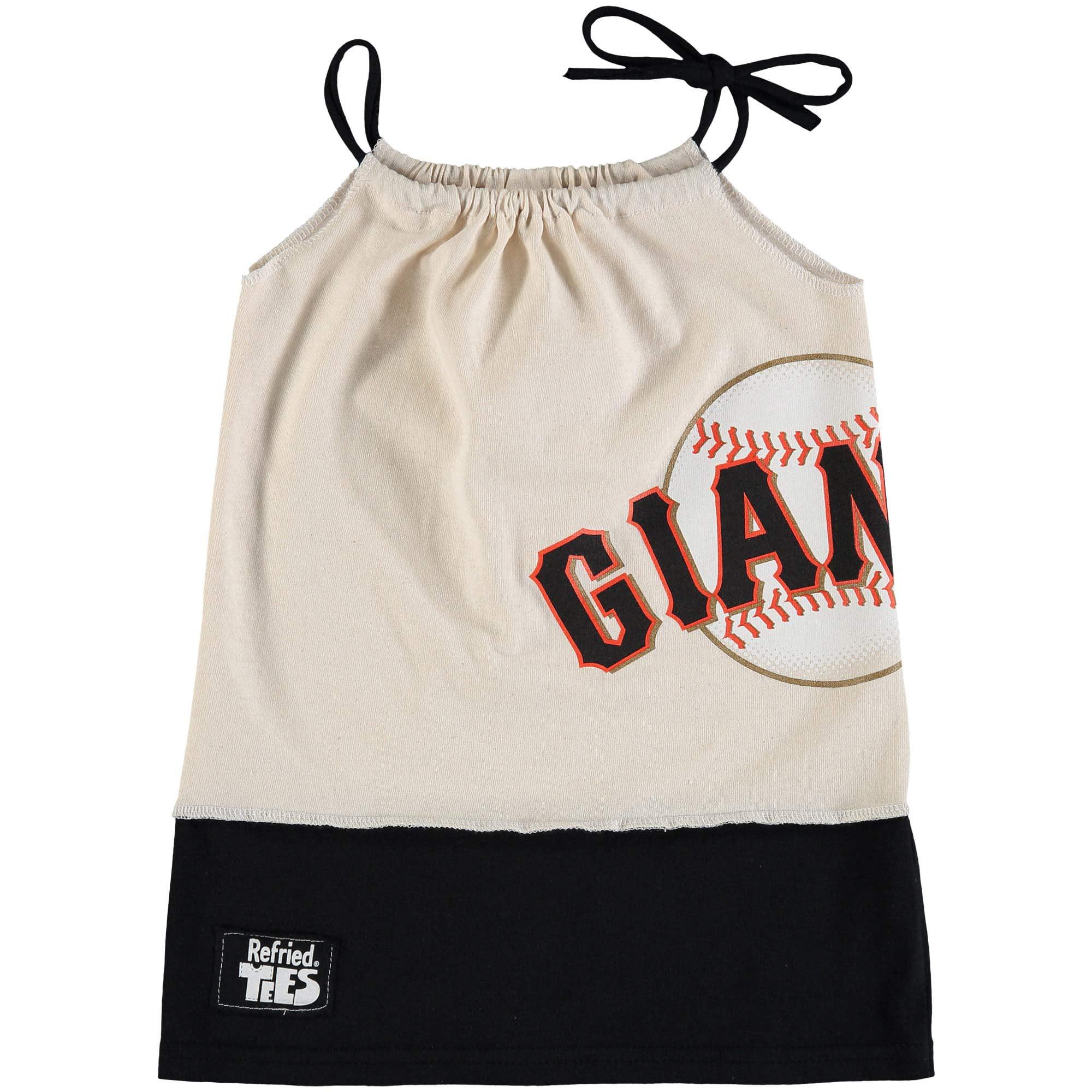 San Francisco Giants Refried Tees Girls Toddler Tee-Tank Dress - Cream