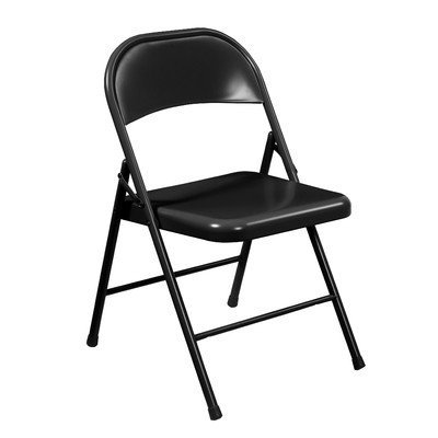 National Public Seating Commercialine All Steel Folding Chairs - 4 Pack