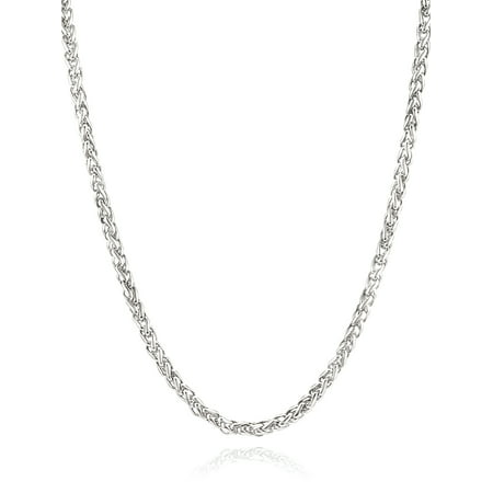 Men's Stainless Steel Polished Spiga Chain Necklace (5mm) - 24