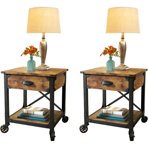 Gentil Better Homes And Garden Rustic Country Side Table, Set Of 2   Walmart.com
