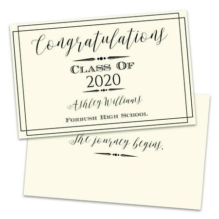 Personalized Classic Frame Graduation Announcement