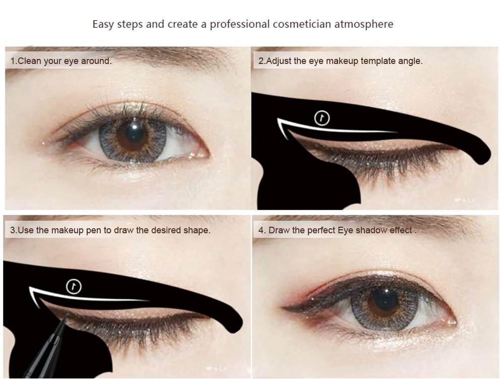 photo relating to Printable Eyeliner Stencil known as Cat Eye Eyeliner Stencil Make-up Eyes Liner Stencil Types