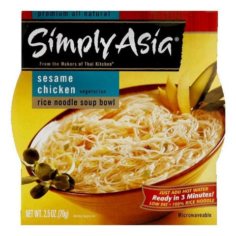 Simply Asia Rice Noodle Soup Bowl Sesame Chicken, 2.5 OZ