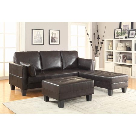 Coaster Company Sofa Bed with Large and Small Ottomans, Brown ()