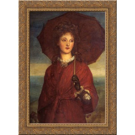 Eveleen Tennant  Later Mrs F W H  Myers 24X18 Gold Ornate Wood Framed Canvas Art By George Frederick Watts