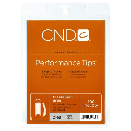 Creative Nail Design Mask - CND Creative Nail Design Nail Tips PERFORMANCE Clear Size 0-10 100ct/Tray