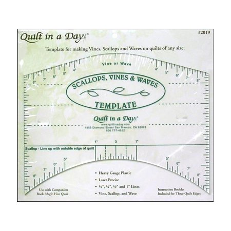 Quilt In A Day Ruler Scallops Vines Waves Template ()