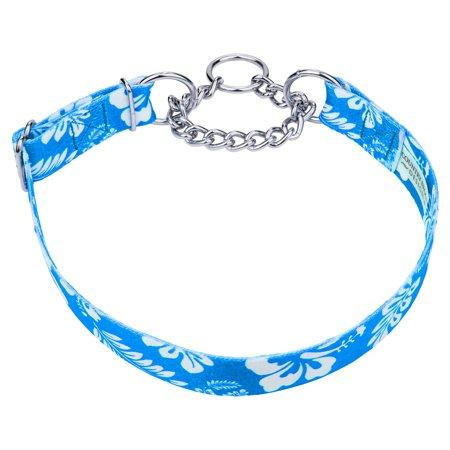 - Country Brook Petz™ Blue Hawaiian Half Check Dog Collar