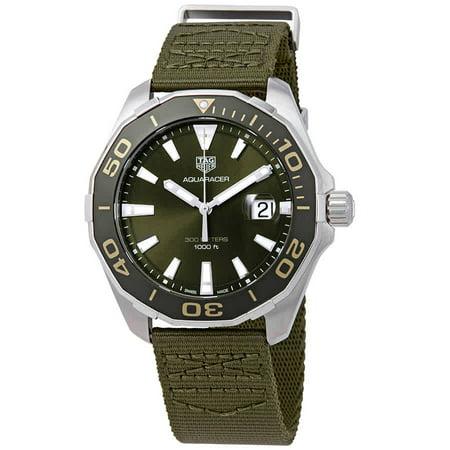 Aquaracer Silver Dial - Tag Heuer Aquaracer Khaki Dial Men's Watch WAY101E.FC8222