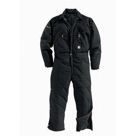 5f124679cb278 Carhartt - Carhartt NEW Black Mens Size 46 Quilt-Lined Corduroy Collar  Coveralls - Walmart.com