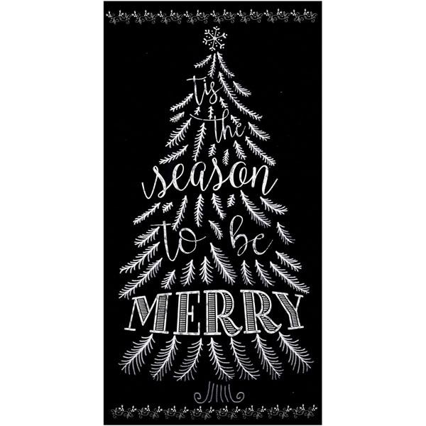Timeless Treasures Fabrics Christmas Chalkboard 24 in Tree Panel