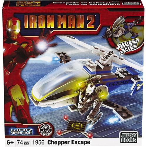 Mega Bloks Iron Man 2 War Machine Chopper Escape Set #1956