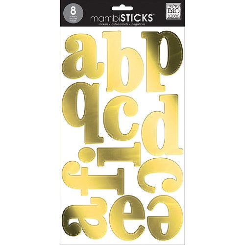 MAMBI Sticks Century Lovercase Gold Foil