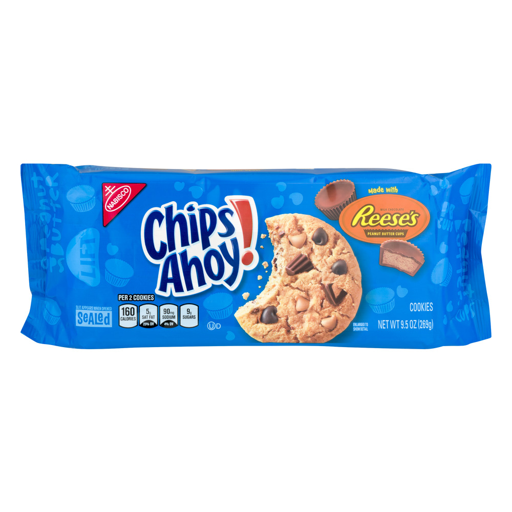 Chips Ahoy Cookies Made With Reese's Peanut Butter Cups, 9.5 OZ