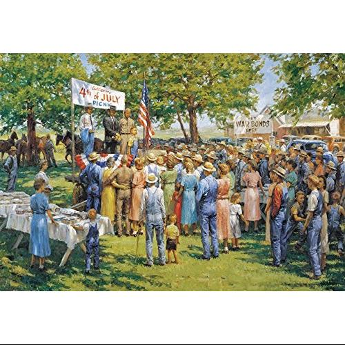 Sunsout Puzzle Company Mapletown Picnic Multi-Colored