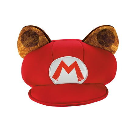 MARIO RACCOON ADULT HAT - Toad Mario Hat