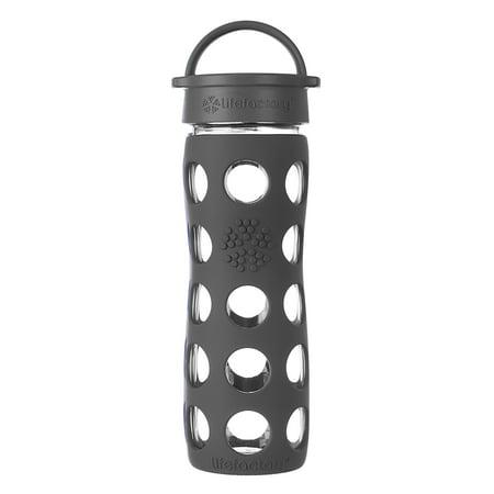 Lifefactory 16oz Glass Water Bottle with Classic Cap - Carbon Black