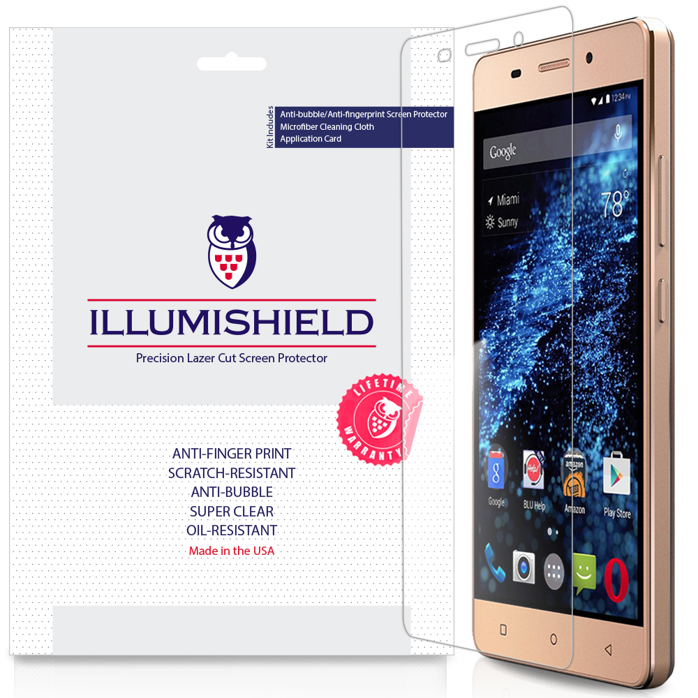3x iLLumiShield Ultra Clear Screen Protector Cover for BLU Energy X LTE