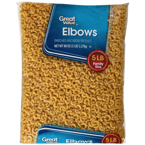 Great Value Elbows Pasta, 5 lbs