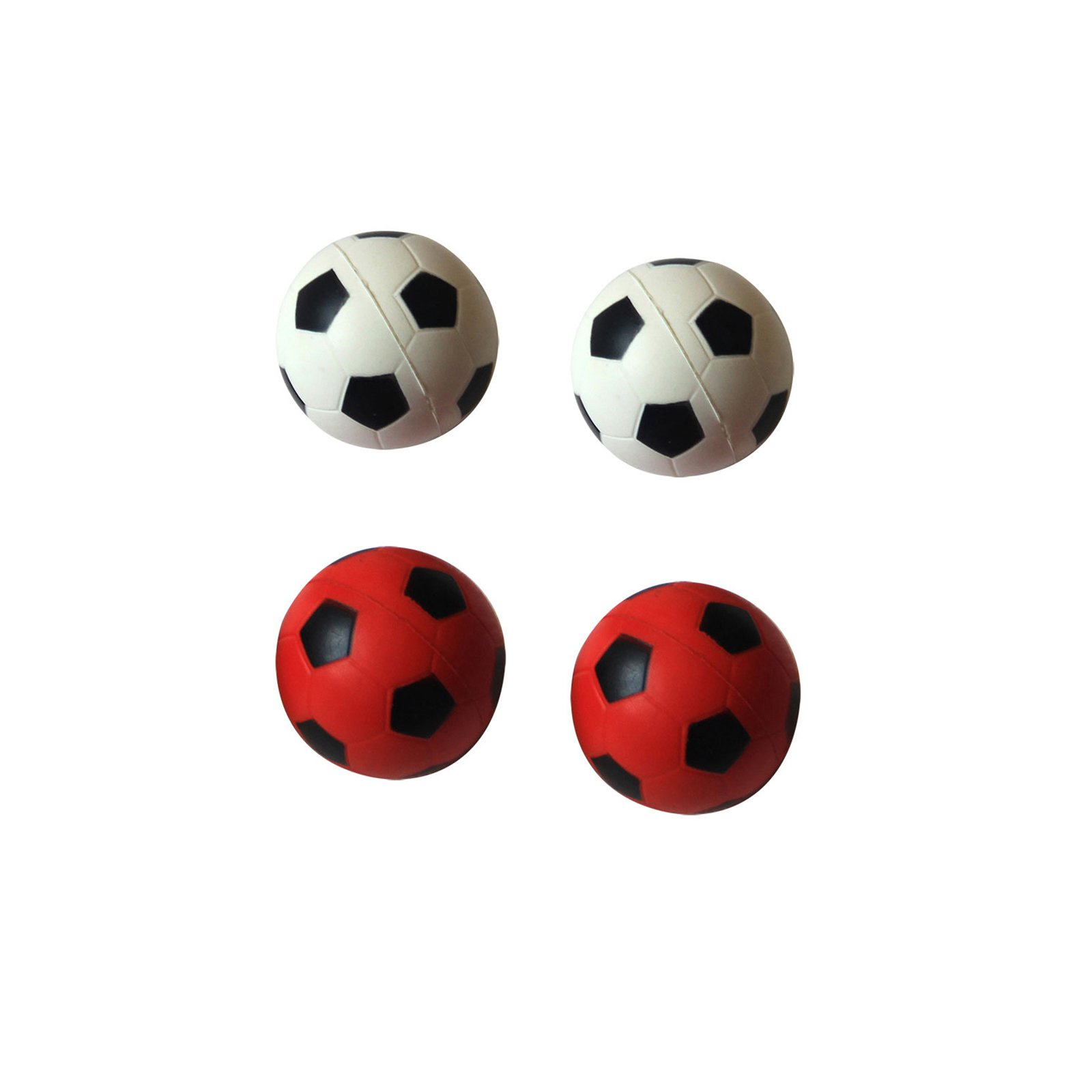 6-Pack Bouncing Sponge Soccer Ball, Red White, 12 Pieces by Iconic Pet