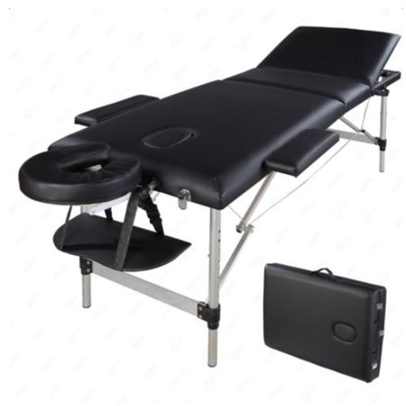 Ktaxon 3 section folding portable aluminum collapsible massage table bed for facial spa tattoo - Portable massage table walmart ...