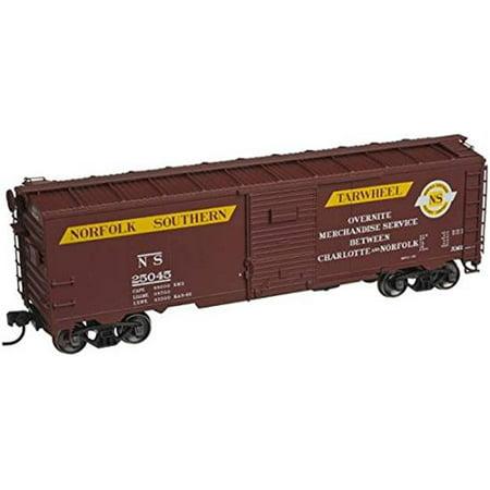 sp whistle stop atm20002607 ho 32 ft. atlas master ara box car, norfolk southern & tarwheel
