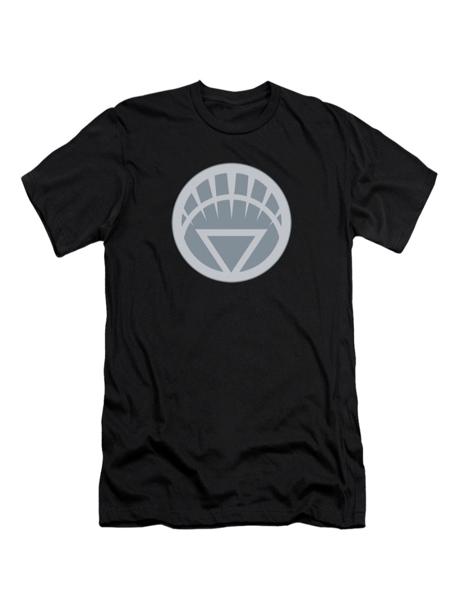 Green Lantern DC Comics White Symbol Adult Slim T-Shirt Tee
