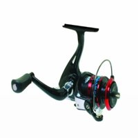 Eagle Claw Wright & McGill Tony Roach Ice Spinning Reel, Black & Red, Size 5