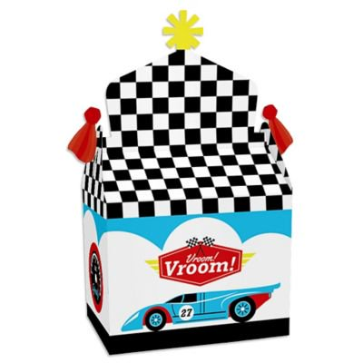Let's Go Racing - Racecar - Treat Box Party Favors - Race Car Birthday Party or Baby Shower Goodie Gable Boxes - Set of 12 ()