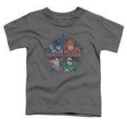 Jla - Four Heroes - Toddler Short Sleeve Shirt - 2T