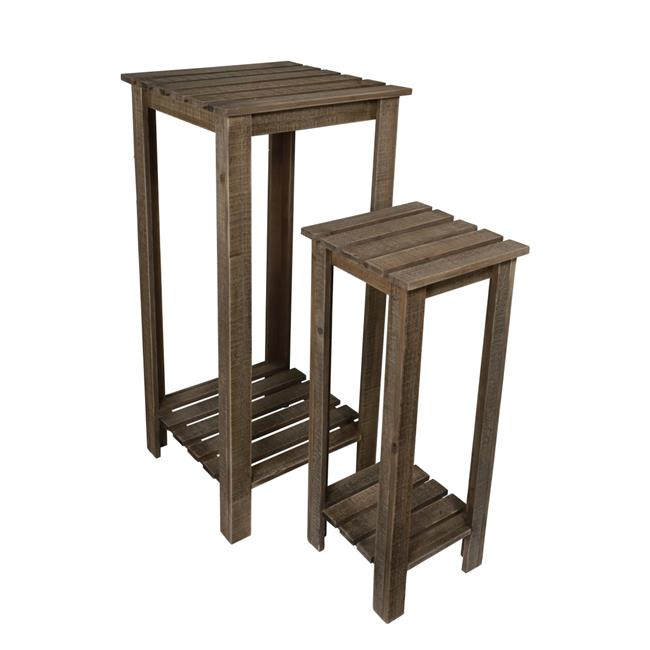 Cheungs 4946-2 2 Tiered Wood Plant Stand - Set of 2 - image 1 of 1