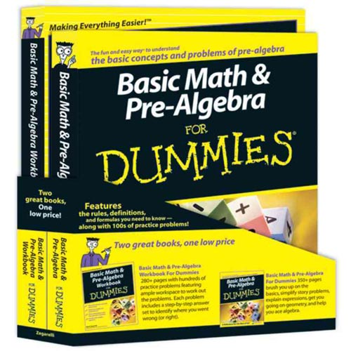Basic Math & Pre-Algebra for Dummies Education Bundle