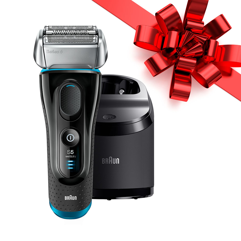 Braun Series 5 5090 / 5190cc ($20 Rebate Available) Men's Electric Foil Shaver, Wet and Dry with Clean & Charge System - 6 Pc (package may vary)