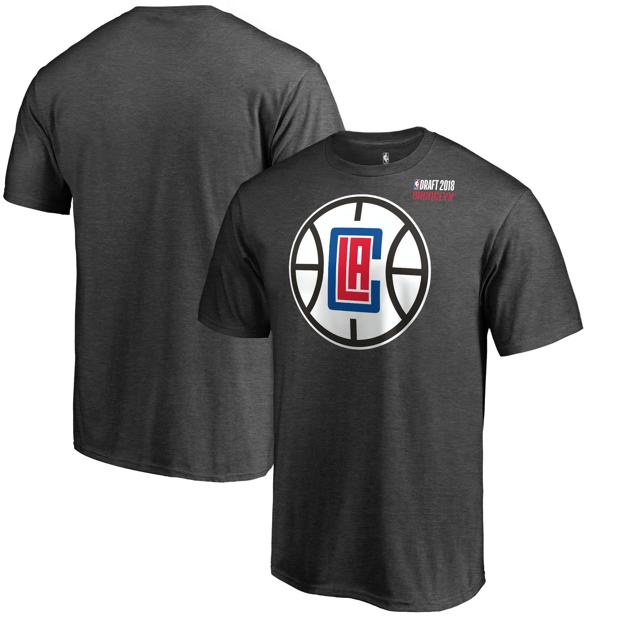 LA Clippers Fanatics Branded 2018 NBA Draft BKLYN T-Shirt - Heather Gray