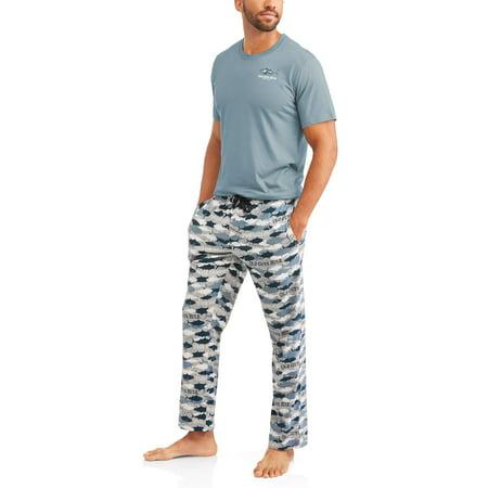 Old Guys Rule Fish Men's Tee and Sleep Pant Sleepwear Set (Old Navy Pirate Costume)