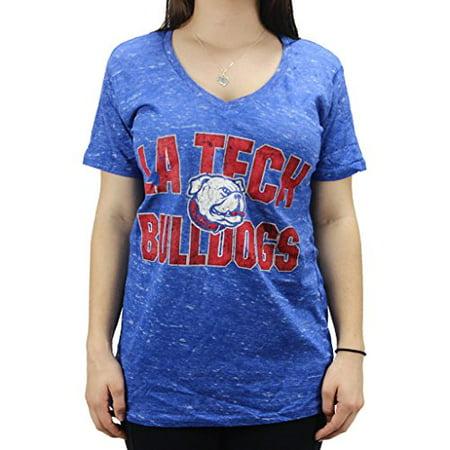 New Louisiana Tech Bulldogs (Pressbox Women' s NCAA Louisiana Tech Bulldogs V Neck T-Shirt )