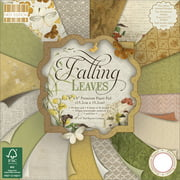 "First Edition Premium Paper Pad 6""X6"" 64/Pkg-Falling Leaves, 16 Designs/4 Each"