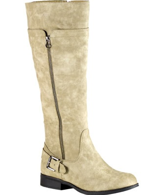 Easy Street Burke Women W Round Toe Synthetic Brown Knee High Boot by