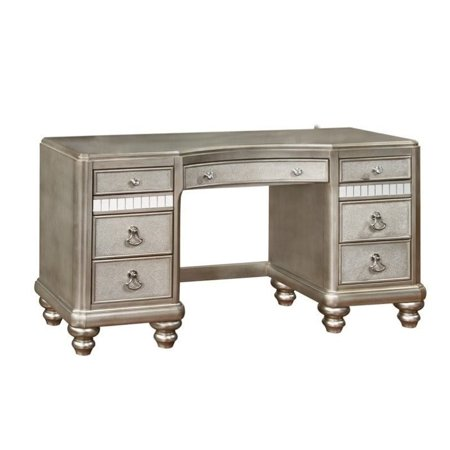 Kingfisher Lane 7 Drawer Bedroom Vanity in Metallic - Vanity Dresser